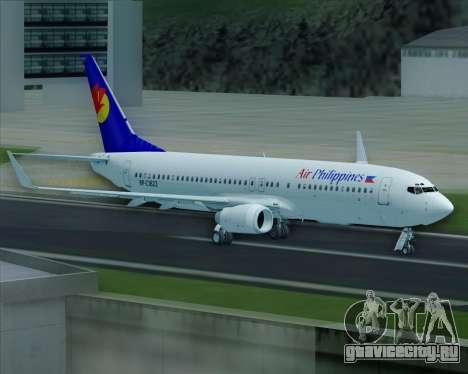 Boeing 737-800 Air Philippines для GTA San Andreas колёса