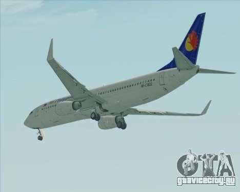 Boeing 737-800 Air Philippines для GTA San Andreas вид справа