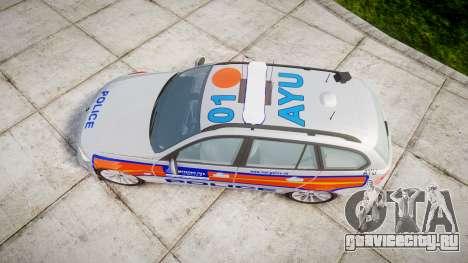 BMW 325d E91 2009 Metropolitan Police [ELS] для GTA 4 вид справа