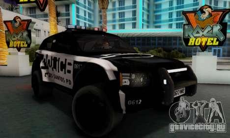 Bowler EXR S 2012 v1.0 Police для GTA San Andreas вид сзади слева