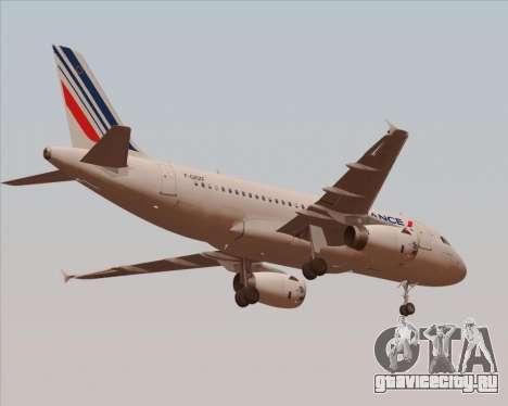 Airbus A319-100 Air France для GTA San Andreas вид сзади