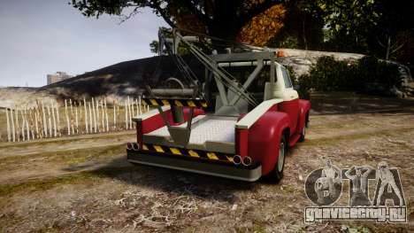 Vapid Towtruck Restored stripeless tires для GTA 4 вид сзади слева