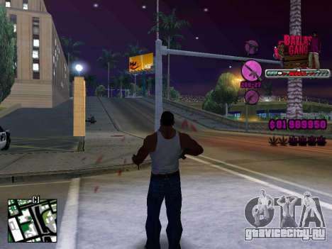 C-HUD Ballas TAWER для GTA San Andreas второй скриншот