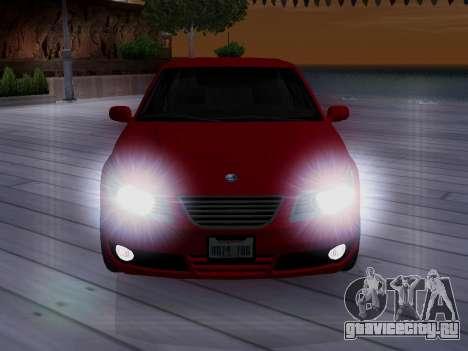 Saab 95 для GTA San Andreas вид сбоку