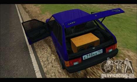 VAZ 2109 BPAN для GTA San Andreas вид справа