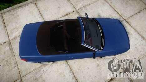 Audi 80 Cabrio us tail lights для GTA 4 вид справа