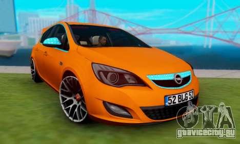Opel Astra J Team для GTA San Andreas