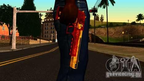 Новогодний Пустынный Орёл для GTA San Andreas третий скриншот