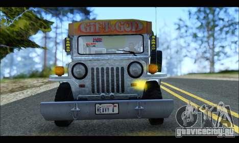 Sarao Stainless для GTA San Andreas вид сзади слева