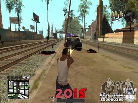 CLEO HUD New Year 2015 для GTA San Andreas третий скриншот