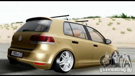 Volkswagen Golf 6 для GTA San Andreas вид слева