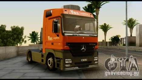 Mercedes-Benz Actros PJ1 для GTA San Andreas вид справа