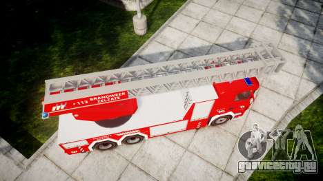 Scania R580 Belgian Fireladder [ELS] для GTA 4 вид справа