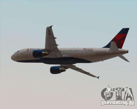 Airbus  A320-200 Delta Airlines для GTA San Andreas вид снизу