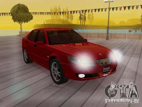 Saab 95 для GTA San Andreas салон