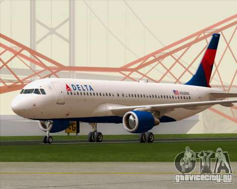 Airbus  A320-200 Delta Airlines для GTA San Andreas