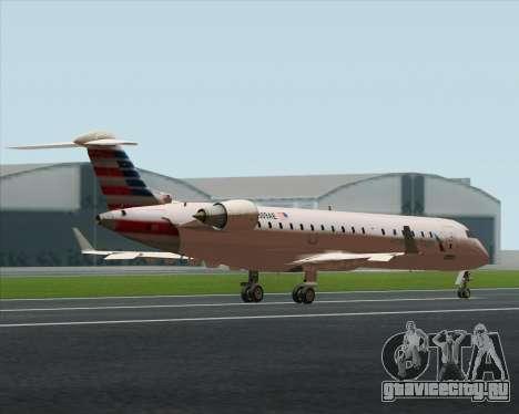 Bombardier CRJ700 American Eagle Airlines для GTA San Andreas вид изнутри