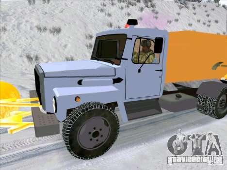 ГАЗ 3309 Снегоуборочная для GTA San Andreas вид справа