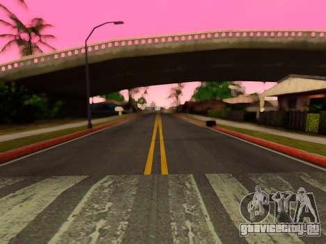 Улучшенные текстуры дорог для GTA San Andreas четвёртый скриншот