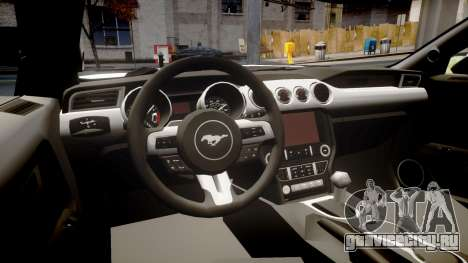 Ford Mustang GT 2015 Custom Kit black stripes для GTA 4 вид изнутри