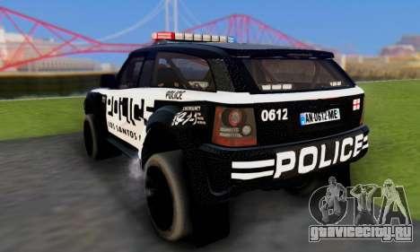 Bowler EXR S 2012 v1.0 Police для GTA San Andreas вид изнутри
