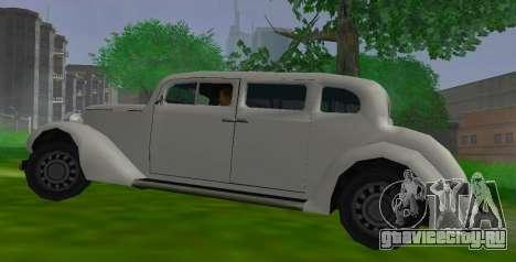 Hustler Limousine для GTA San Andreas вид слева