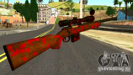 Rifle with Blood для GTA San Andreas второй скриншот