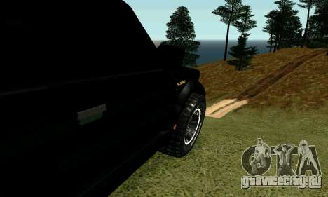 Mitsubishi Pajero Intercooler Turbo 2800 для GTA San Andreas вид сзади слева