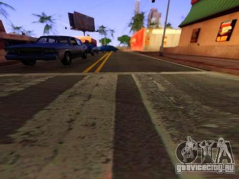 Улучшенные текстуры дорог для GTA San Andreas третий скриншот