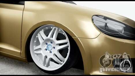 Volkswagen Golf 6 для GTA San Andreas вид справа