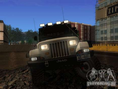 Jeep Wrangler 1986 Трофи для GTA San Andreas вид справа