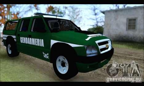 Chevrolet S-10 Gendarmeria для GTA San Andreas вид справа