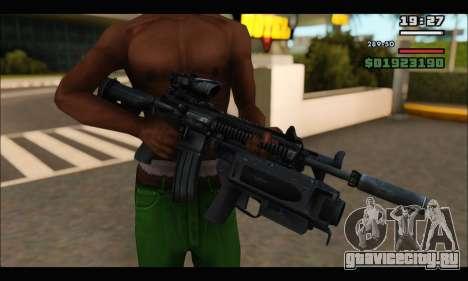 HK416 M320 Devgru для GTA San Andreas четвёртый скриншот