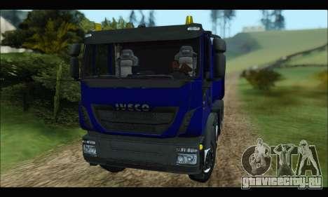 Iveco Trakker 2014 Tipper для GTA San Andreas вид слева