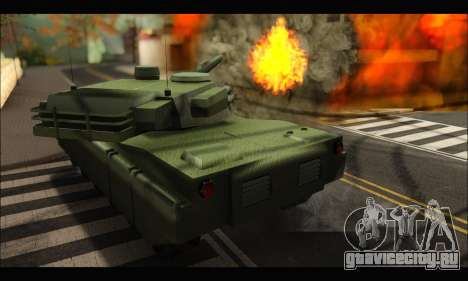 Retextured Rhino Tank для GTA San Andreas вид справа