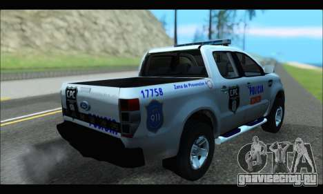 Ford Ranger P.B.A 2015 Text4 для GTA San Andreas вид слева
