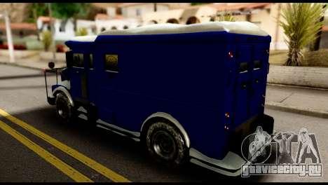 GTA 5 Stockade для GTA San Andreas вид сзади слева