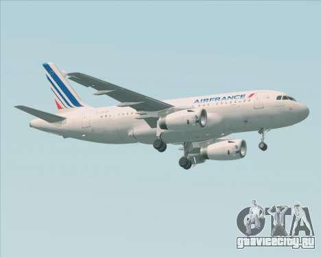 Airbus A319-100 Air France для GTA San Andreas вид слева