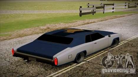 Buccaneer 2.0 для GTA San Andreas вид слева