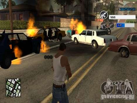 C-HUD by SampHack v.22 для GTA San Andreas второй скриншот