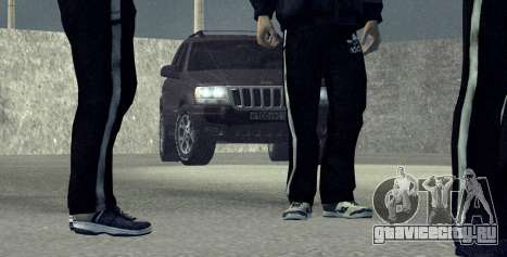Jeep Grand Cherokee WJ для GTA San Andreas вид сзади слева