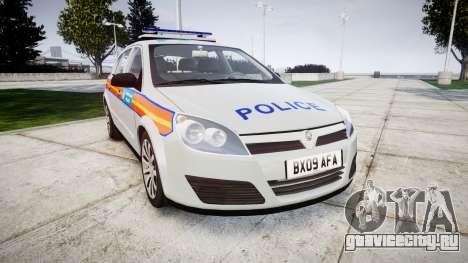 Vauxhall Astra 2009 Police [ELS] 911EP Galaxy для GTA 4