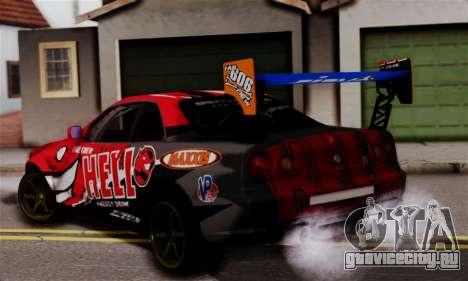 Nissan Skyline R34 HELL DT для GTA San Andreas вид слева