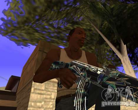 Blue Chrome Weapon Pack для GTA San Andreas седьмой скриншот