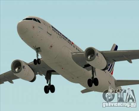 Airbus A319-100 Air France для GTA San Andreas салон