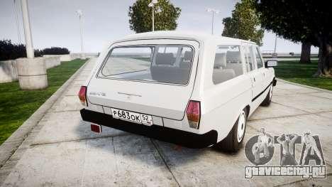 ГАЗ 31022 rims1 для GTA 4 вид сзади слева