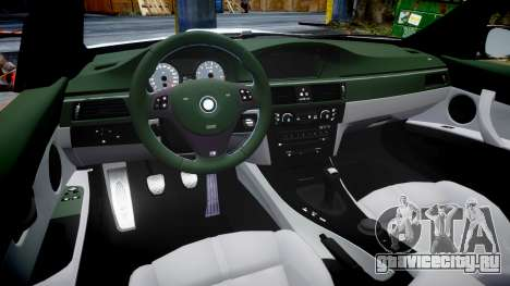 BMW E92 M3 LibertyWalk для GTA 4 вид изнутри