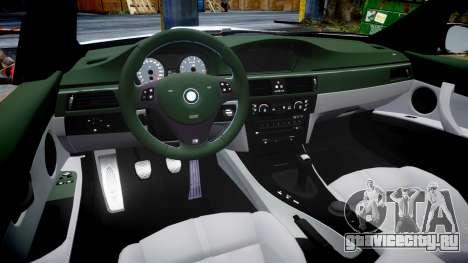 BMW E92 M3 LibertyWalk для GTA 4 вид изнутри