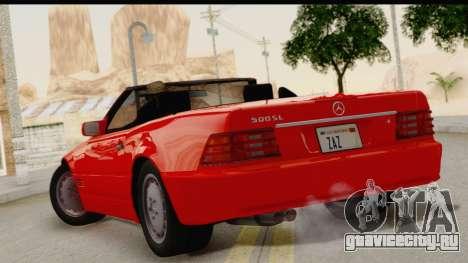 Mercedes-Benz 500SL R129 1992 для GTA San Andreas вид слева