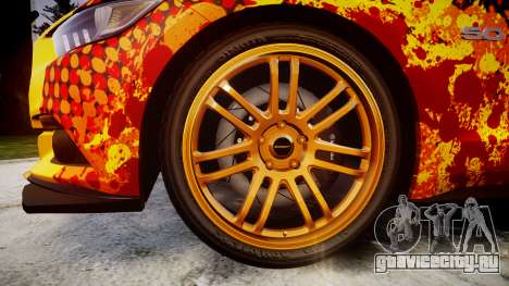 Ford Mustang GT 2015 Custom Kit alpinestars для GTA 4 вид сзади